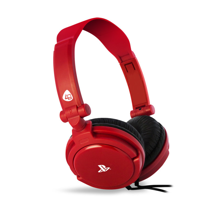4Gamers - PRO 4-10 Wired Stereo Gaming Headset Red for PS5 & PS4