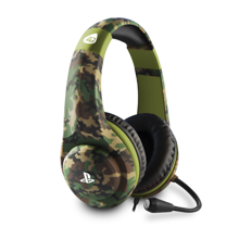 4Gamers - PRO 4-70 Wired Stereo Gaming Headset Green Camo for PS5 & PS4