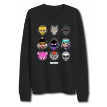 Fortnite - Black Characters Sweatshirt 14Y
