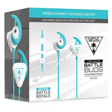 Turtle Beach Battle Buds In-Ear Gaming Headset White/Blue Duck for Nintendo Switch, Mobile, PS5, PS4, Xbox Series, Xbox One & PC