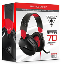 Turtle Beach Ear Force Recon 70 Wired Gaming Headset Black & Red for Nintendo Switch, PS5, PS4, Xbox Series, Xbox One, PC & Mobile