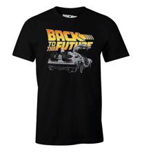 Back to the Future - Dologo Black T-Shirt L