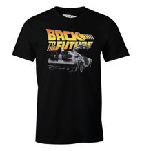 Back to the Future - Dologo Black T-Shirt XL