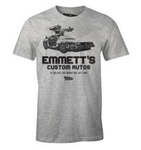Back to the Future - Emmett's Custom Autos Grey T-Shirt L