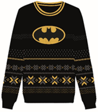 DC Comics - Ugly Batman Logo Christmas Sweater S