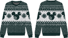 Disney - Ugly Mickey Christmas Sweater L