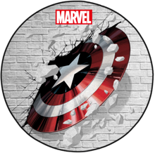Marvel - Captain America Shield Interior Circular Floor Mat