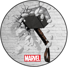 Marvel - Thor's Hammer Interior Circular Floor Mat