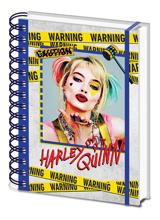 Birds of Prey - Harley Quinn Warning A5 Wiro Notebook