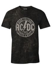 ACDC - Black Men's T-shirt Rock & Roll 1975 - M