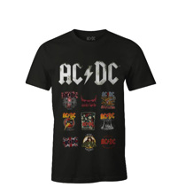ACDC - Black Men's T-shirt Patchwork Logo - XXL