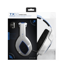 Gioteck - TX-50 Premium Stereo Gaming Headset White & Blue for PS5, PS4 & Mobile