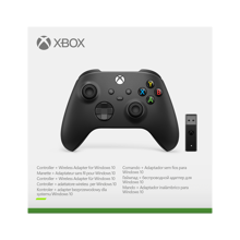 Xbox Wireless Controller Carbon Black + Wireless Adapter for Windows 10, Xbox Series X|S, Xbox One & Mobile