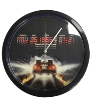Back to the Future - Wall Clock with Metal Frame