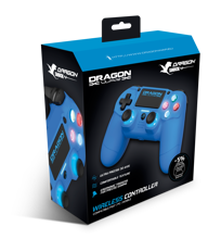 Dragonwar - Dragon Shock 4 Wireless Controller Blue for PS4, PC & Mobile