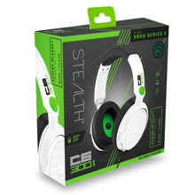 Stealth - C6-300X Wired Stereo Gaming Headset White & Green for Xbox Series