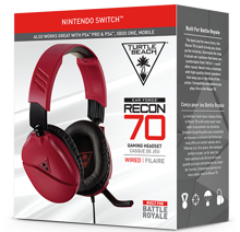 Turtle Beach Ear Force Recon 70 Wired Gaming Headset Midnight Red for Nintendo Switch, PS5, PS4, Xbox Series, Xbox One, PC & Mobile