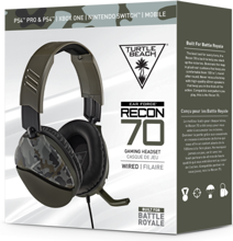 Turtle Beach Ear Force Recon 70 Wired Gaming Headset Green Camo for PS5, PS4, Xbox Series, Xbox One, Switch, PC & Mobile