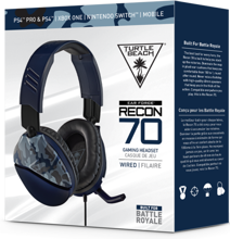 Turtle Beach Ear Force Recon 70 Wired Gaming Headset Blue Camo for PS5, PS4, Xbox Series, Xbox One, Switch, PC & Mobile