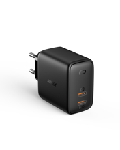 Aukey - PA-B4 Omnia Duo 65W  Dual-Port PD Wall Charger with GaNFast Tech