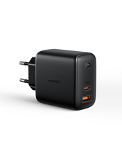 Aukey - PA-B3 Omnia Mix 65W  Dual-Port PD Wall Charger with GaNFast Tech
