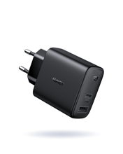 Aukey - PA-F3S-BK Swift Series  32W 2-Port PD Wall Charger Black