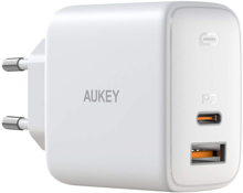 Aukey - PA-F3S-WT Swift Series  32W 2-Port PD Wall Charger White
