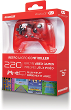 My Arcade - Retro Micro Controller with 220 Built-in Video Games Transparent Red