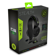 Stealth - C6-100 Wired Gaming Headset Black and Green with Carbon Headset Stand for PS4, Xbox One, Switch, PC & Mobile
