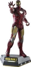 Iron Man 2 - Iron Man Battlefield Version Life Size Figure (LED lighting & base included)