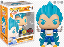Funko Pop! Animation: DBS- Vegeta Powering Up (Glow in the Dark) )w/Chase - US Exclusive