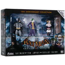 Batman Arkham Asylum Hero Collection - 3 Figures Pack 1/16 10th Anniversary Box 13 cm