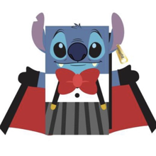 Funko Loungefly - Disney Vampire Stitch with Bow Tie Flap Wallet
