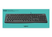 Logitech K120 Wired Keyboard Black Azerty BE