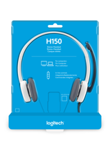 Logitech H150 Wired Stereo Headset Cloud White