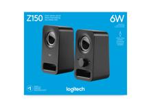 Logitech Z150 Stereo Multimedia Speakers Midnight Black