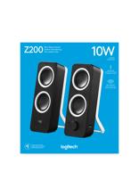 Logitech Z200 Stereo Multimedia Speakers Midnight Black