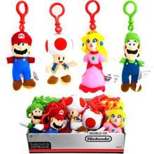 Nintendo - Super Mario Keychain Plush Assortment 15cm (12 units display)