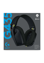Logitech G435 Lightspeed Wireless Gaming Headset Black & Neon Yellow for PS5, PS4, PC & Mac