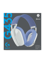 Logitech G435 Lightspeed Wireless Gaming Headset Off White & Lilac for PS5, PS4, PC & Mac