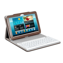 ARIZONA Campus: Faux leather case with removable bluetooth keyboard, Brown edition (Brown / light gray int)