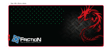 Dragonwar Friction XXL Gaming Mouse Mat and for gaming keyboards. Flexible, thick and comfortable rubbery material - Ultra smooth surface - Black / Red / Stylized gray