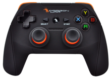 Dragonwar Dragon Shock Ultimate Wireless PC Controller with 2 vibration motors, high capacity battery, non slip and glowing joystick with ergonomic triggers.