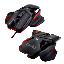 Dragonwar G4.1 Phantom 9500 DPI ergonomic and customizable RGB Gaming mouse with 7 buttons - scroller and free XL mouse pad - Two-handed. Red.