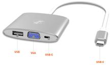 Mobility Lab Digital Multiport VGA USB-C Adapter