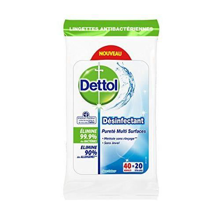 Dettol Disinfectant Antibacterial Wipes Cleanliness Multi-surface 80 p.