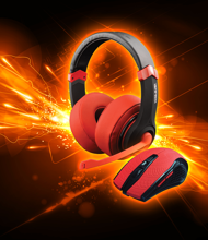 Dragonwar Combo Set 2in1, Gaming Headset + Gaming Mouse) Red Edition