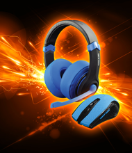 Dragonwar Combo Set 2in1, Gaming Headset + Gaming Mouse) Blue Edition