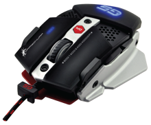 Dragonwar G5 Warlord 4000DPI ergonomic and customizable RGB Gaming Mouse with 8 buttons - Black