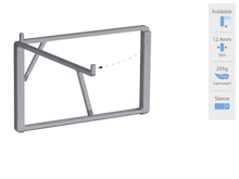 Rain Design mBar Pro + Plus Foldable Laptop Stand - Space Gray